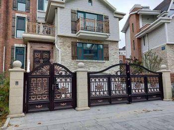 怎样确定别墅铝艺大门的安装位置